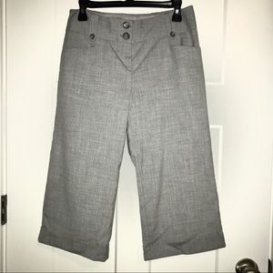 THE LIMITED gray cropped trousers
